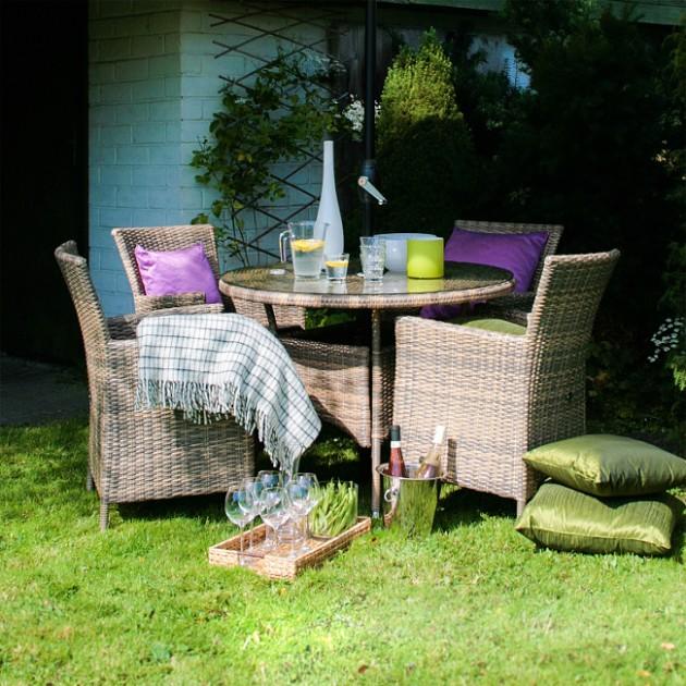 Обідній стіл Wicker (13322) - Обідні столи Garden4You
