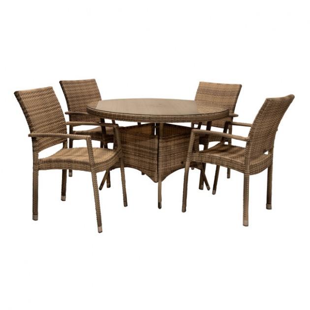 Столовий комплект Wicker (k11972) - Столові комплекти Garden4You