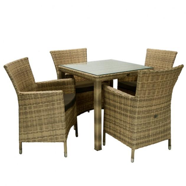 Столовий комплект Wicker (k13347) - Столові комплекти Garden4You