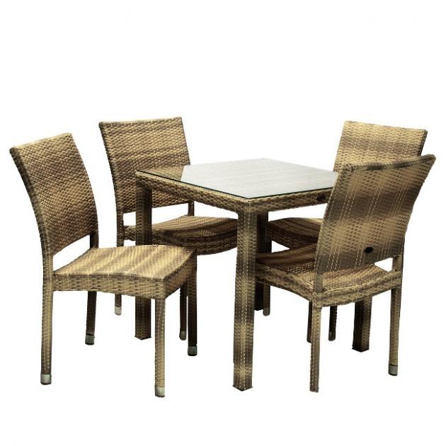 Столовий комплект Wicker (k133472) - Столові комплекти Garden4You