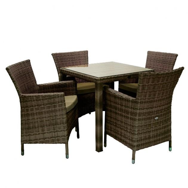 Столовий комплект Wicker (k13348) - Столові комплекти Garden4You