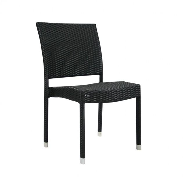 Стул без подлокотников Wicker-3 (11894) - Стільці для вуличних кафе Garden4You