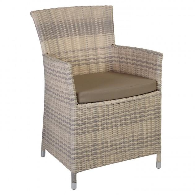 Крісло Wicker Beige (1270) - Вуличні крісла для кафе Garden4You