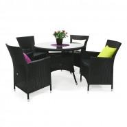 Крісло Wicker Black (12709) - Вуличні крісла для кафе Garden4You