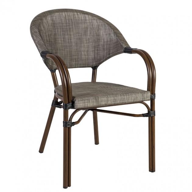 Крісло Bambus Grey (18624) - Вуличні крісла для кафе Garden4You