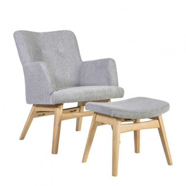 Крісло з підставкою для ніг Civic (20823) - Крісла для ресторана Home4You