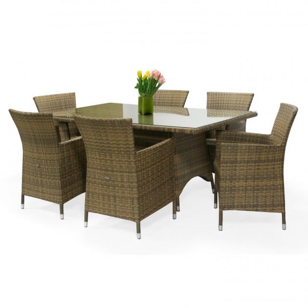 Крісло Wicker Cappuccino (0946) - Вуличні крісла для кафе Garden4You