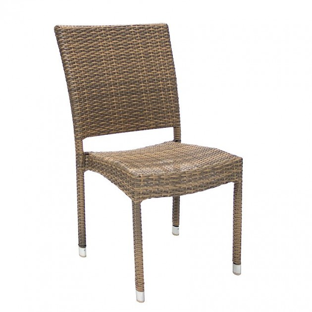 Стілець Wicker Cappuccino (11893) - Стільці для літніх кафе Garden4You