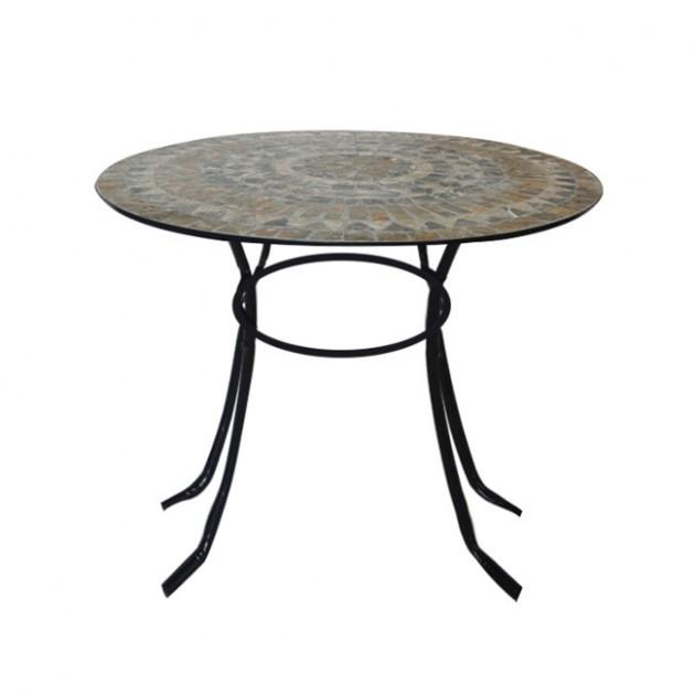 Круглий садовий стіл Mosaic (38668) - Обідні столи Garden4You