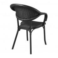 Крісло Giò Nero (33074) - Стільці для вуличних кафе Antiga
