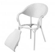 Крісло Giò Bianco (33075) - Стільці для вуличних кафе Antiga