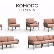 Диван Komodo 5 Bianco Rosa Quarzo (40370.00.066) - Диванний комплект Komodo 5 Nardi
