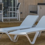 Пляжний шезлонг Eva Pro White (3100WW) - Пляжні шезлонги Balliu