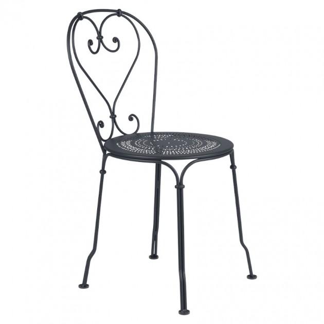 Садовий стілець 1900 Anthracite (220147) - Стілець 1900 Fermob