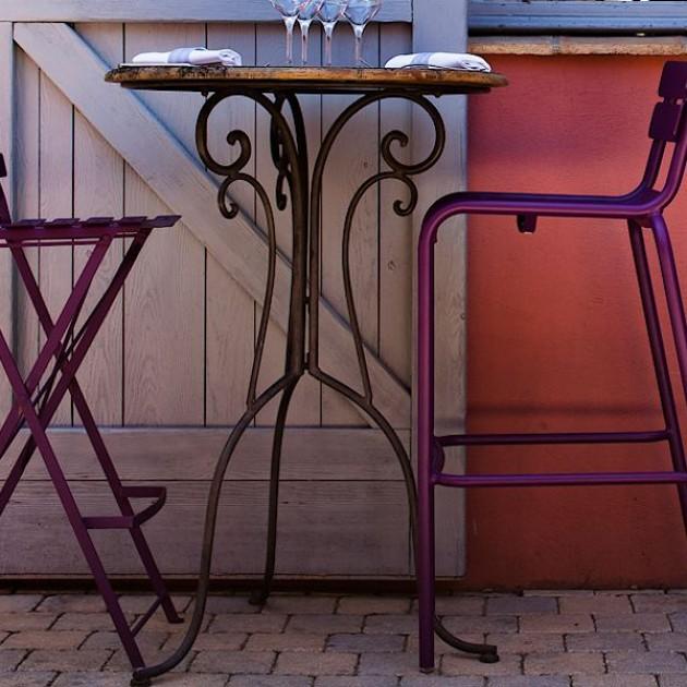 Барний стілець Bistro Cotton White (511301) - Барний стілець Bistro Fermob