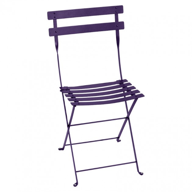 Cкладаний стілець Bistro 0101 Aubergine (010128) - Стілець Bistro Metal Fermob