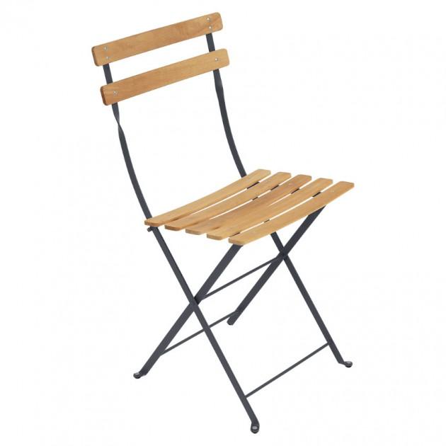 Cкладаний стілець Bistro Natural 5107 Anthracite (510747) - Стілець Bistro Naturel Fermob