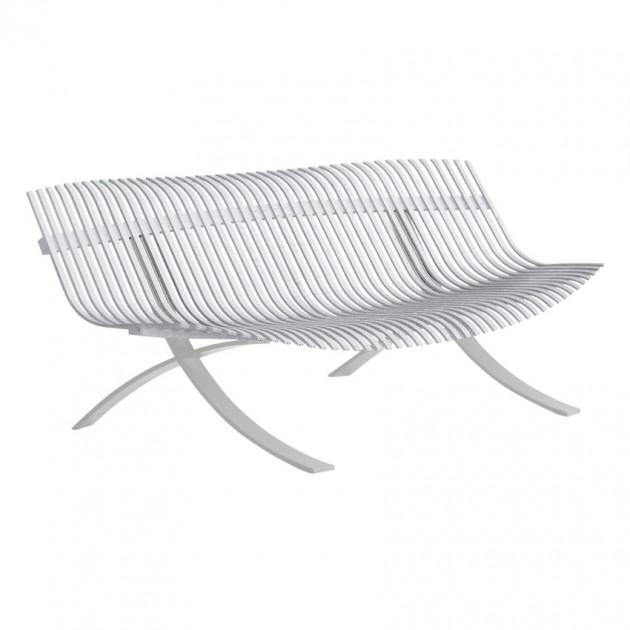 Садова лавка Charivari Cotton White (104501) - Лава Charivari Steel Grey Fermob
