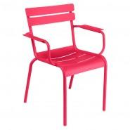 Стілець Luxembourg 4102 Pink Praline (410293) - Стілець з підлокітниками Luxembourg Fermob