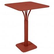 Барний стіл Luxembourg 4140 Red Ochre (414020) - Барний стіл на центральній опорі Luxembourg Fermob