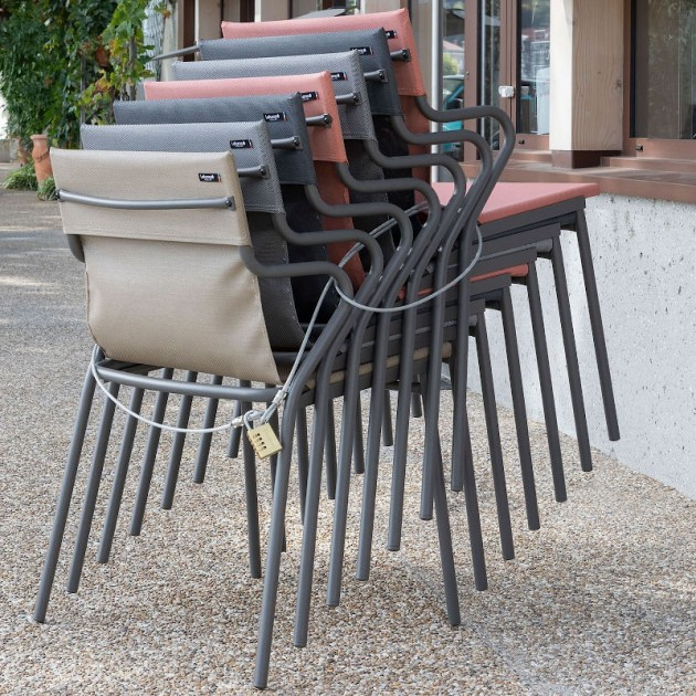 Вуличне крісло Horizon Safran (lfm9001-9441) - Вуличні крісла для кафе Lafuma