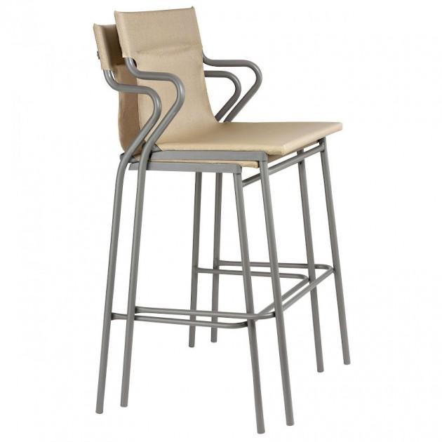 Барний стілець Horizon Noisette (lfm9006-9077) - Вуличні барні стільці Lafuma