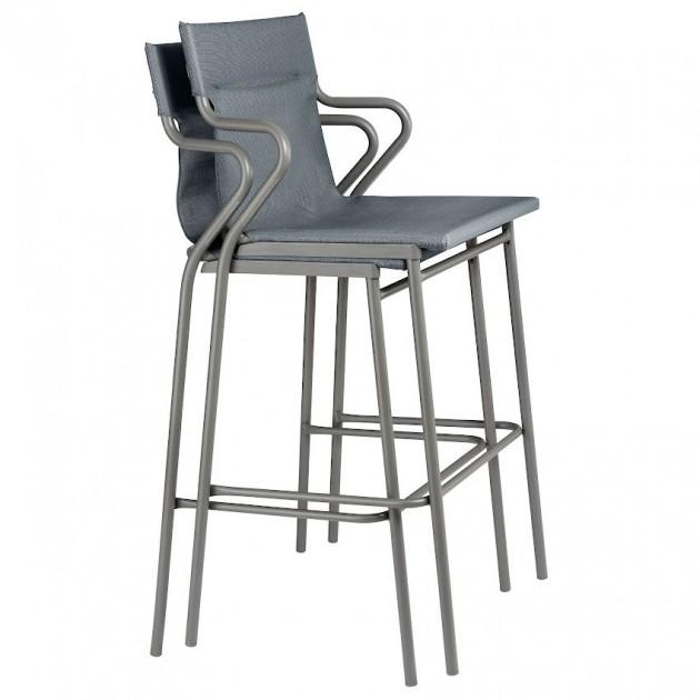 Барний стілець Horizon Storm Grey (lfm9006-9075) - Вуличні барні стільці Lafuma