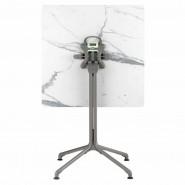 Квадратний стіл Horizon Marbre Blanc (lfm9016-9444) - Обідні столи Lafuma