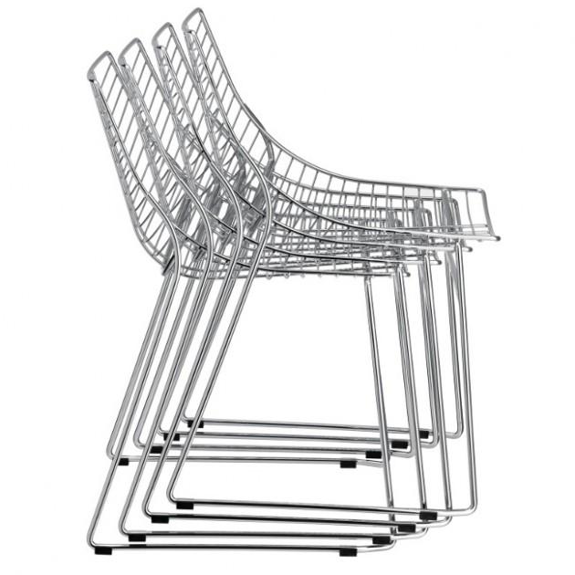 Стілець з підлокітниками Net 097 (097-cr) - Cтільці для кафе Metalmobil
