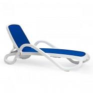 Шезлонг Alfa Bianco Blue (40416.00.112) - Пляжні шезлонги Nardi