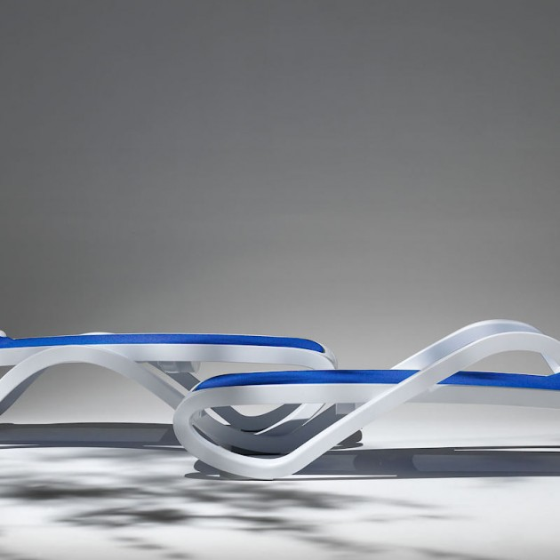 Шезлонг Alfa Bianco Bianco (40416.00.108) - Пляжні шезлонги Nardi