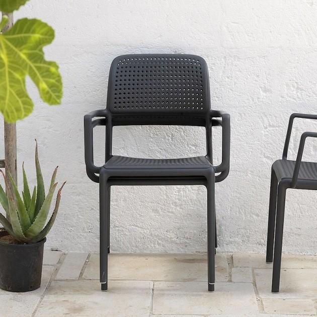 Крісло Bora Antracite (40242.02.000.06) - Вуличні крісла для кафе Nardi