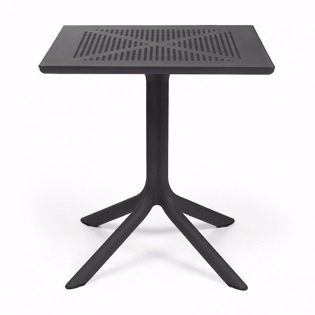 Пластиковий стіл Clip 70 Antracite (40084.02.000) - Обідні столи Nardi