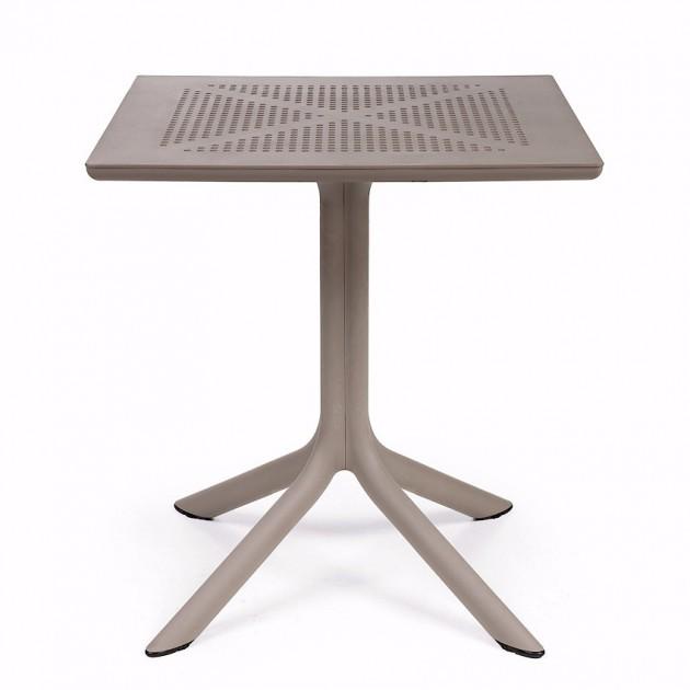 Пластиковий стіл Clip 70 Tortora (40084.10.000) - Обідні столи Nardi