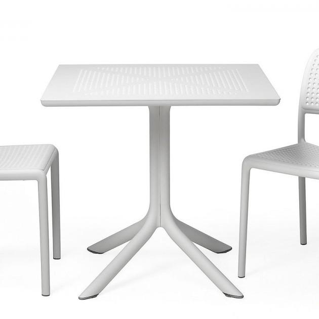 Пластиковий стіл Clip 80 Bianco (40082.00.000) - Обідні столи Nardi