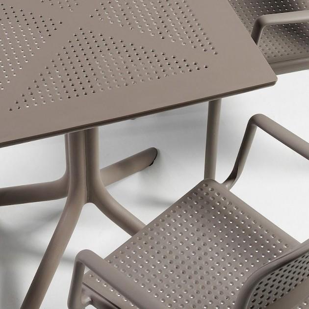 Пластиковий стіл Clip 80 Tortora (40082.10.000) - Обідні столи Nardi