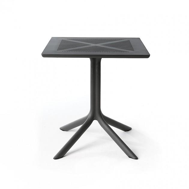 Пластиковий стіл ClipX 70 Antracite (40085.02.000) - Обідні столи Nardi