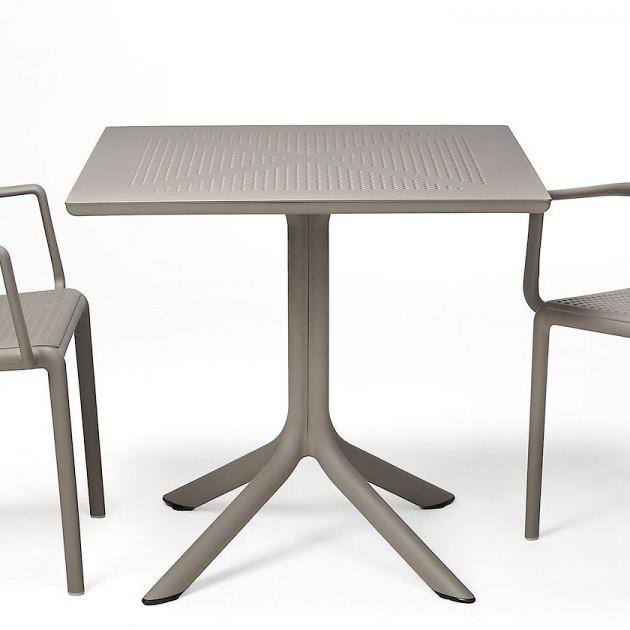 Пластиковий стіл ClipX 70 Tortora (40085.10.000) - Обідні столи Nardi