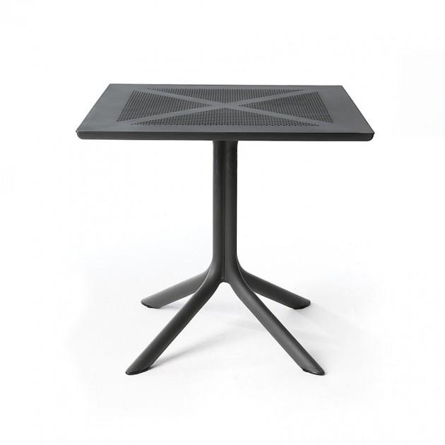 Пластиковий стіл ClipX 80 Antracite (40083.02.000) - Обідні столи Nardi