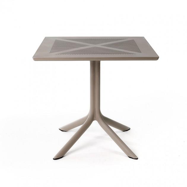 Пластиковий стіл ClipX 80 Tortora (40083.10.000) - Обідні столи Nardi