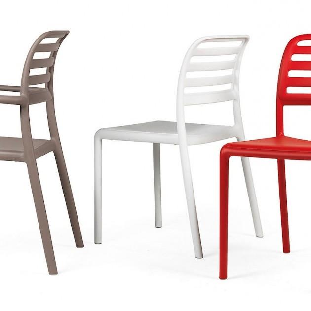 Стілець Costa Bistrot Rosso (40245.07.000.06) - Стільці для літніх кафе Nardi