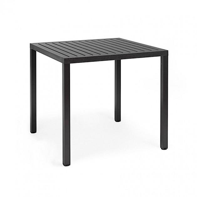 Квадратний стіл Cube 80 Antracite (48052.02.000) - Обідні столи Nardi