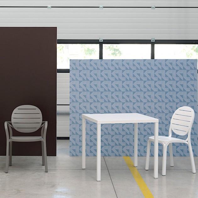 Квадратний стіл Cube 80 Bianco (48053.00.000) - Обідні столи Nardi