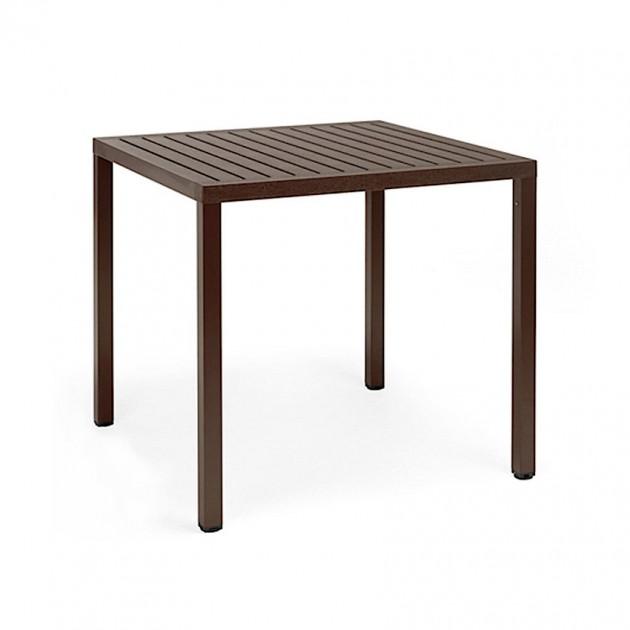 Квадратний стіл Cube 80 Caffe (48057.05.000) - Обідні столи Nardi