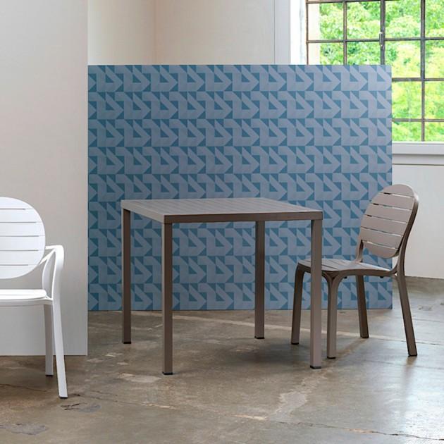 Квадратний стіл Cube 80 Tortora (48059.10.000) - Обідні столи Nardi