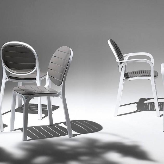 Стілець Erica Bianco Tortora (40236.00.010) - Стільці для вуличних кафе Nardi