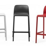 Напівбарний стілець Faro Mini Bianco (40347.00.000) - Вуличні барні стільці Nardi
