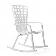 Крісло-гойдалка Folio Rocking Bianco (40298.00.000) - Вуличні крісла для кафе Nardi
