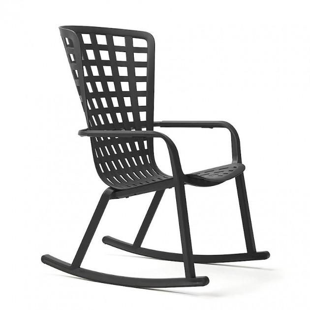 Крісло-гойдалка Folio Rocking Antracite (40298.02.000) - Вуличні крісла для кафе Nardi