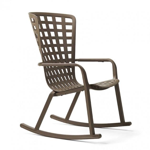 Крісло-гойдалка Folio Rocking Tabacco (40298.53.000) - Вуличні крісла для кафе Nardi